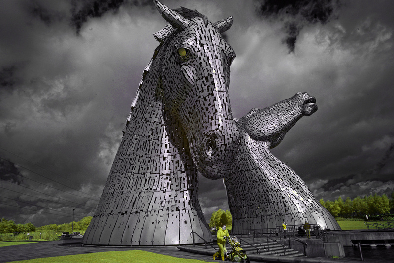 The Kelpies in Infrared