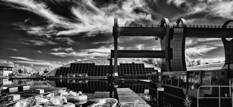 The Falkirk Wheel in Infrared Photography