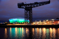 River clyde at night glasgow